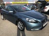 USED 2012 62 VOLVO V40 1.6 D2 ES 5 DOOR 113 BHP IN METALLIC BLUE WITH 29500 MILES IN GREAT CONDITION WITH A FULL SERVICE HISTORY. APPROVED CARS ARE PLEASED TO OFFER THIS VOLVO V40 1.6 D2 ES 5 DOOR 113 BHP IN METALLIC BLUE WITH 29500 MILES IN GREAT CONDITION WITH A GOOD SPEC AND ONLY 1 OWNER WITH A FULL SERVICE HISTORY SERVICED AT 1K,9K,15K,20K,25K AND 28K ALL VOLVO MAIN DEALER IN LONDON A GREAT CAR WITH GREAT HISTORY.