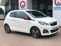 USED 2017 17 PEUGEOT 108 1.2 PURETECH ALLURE 3d 82 BHP 1 OWNER | REV CAM | BLUETOOTH