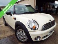 2009 MINI HATCH ONE 1.4 ONE 3d 94 BHP £3495.00