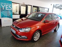 USED 2016 65 VOLKSWAGEN POLO 1.0 SE 5d 74 BHP Two owners, VW service history- 5 stamps. March 2020 Mot. Finished in Salsa Red with Grey cloth seats.