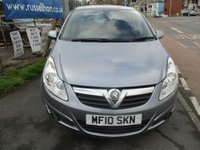 USED 2010 10 VAUXHALL CORSA 1.2 SE 5d 83 BHP New MOT & Full Service Done on purchase + 2 Years FREE Mot & Service Included After . 3 Months Russell Ham Quality Warranty . All Car's Are HPI Clear . Finance Arranged - Credit Card's Accepted . for more cars www.russellham.co.uk  Spare Key & Owners Book Pack..
