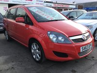 USED 2013 63 VAUXHALL ZAFIRA 1.6 EXCLUSIV 5d 113 BHP 34000 miles, 7 seater, superb, great value.