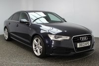 USED 2013 13 AUDI A6 2.0 TDI S LINE 4DR 175 BHP NAV HEATED LEATHER  AUDI SERVICE HISTORY + HEATED LEATHER SEATS + SATELLITE NAVIGATION + PARKING ASSIST + BLUETOOTH + PARKING SENSOR + CRUISE CONTROL + CLIMATE CONTROL + HEAD UP DISPLAY + MULTI FUNCTION WHEEL + PRIVACY GLASS + XENON HEADLIGHTS + ELECTRIC WINDOWS + DAB RADIO + 19 INCH ALLOY WHEELS