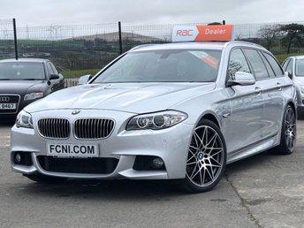 2013 BMW 5 SERIES 2.0 520D M SPORT TOURING 5d AUTO 181 BHP £12995.00