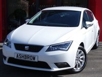 USED 2015 15 SEAT LEON 1.2 TSI SE TECHNOLOGY 5d 110 S/S SAT NAV, BLUETOOTH PHONE & MUSIC STREAMING, DAB RADIO, MANUAL 6 SPEED GEARBOX, START STOP TECHNOLOGY, LED FRONT & REAR LIGHTS, FRONT FOG LIGHTS, 16 INCH 10 SPOKE ALLOYS, GREY CLOTH INTERIOR, LEATHER MULTI FUNCTION STEERING WHEEL, CRUISE CONTROL, ELECTRIC WINDOWS x4, ELECTRIC HEATED MIRRORS, REMOTE CENTRAL LOCKING, MFD TRIP COMPUTER, CD HIFI WITH 2x SD CARD READERS, MDI INPUT FOR IPOD / USB DEVICES, AIR CON, FRONT ARM REST, ILLUMINATING VANITY MIRRORS, 1 OWNER, FULL SERVICE HISTORY, £30 RFL