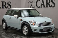 USED 2011 11 MINI HATCH COOPER 1.6 COOPER 3d 122 BHP Ice Blue with Contrast White Roof and Mirror Caps, Bluetooth Connectivity, DAB Radio, Air Conditioning, 15 Inch Alloy Wheels, On-board Computer