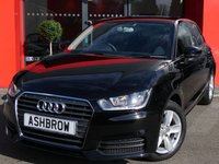 USED 2016 65 AUDI A1 SPORTBACK 1.0 TFSI SE 5d 95 S/S £0 ROAD TAX, 1 OWNER FROM NEW, FULL AUDI SERVICE HISTORY, NEW SHAPE, DAB RADIO, AUX INPUT, COLOUR CODED EXTERIOR, 15 INCH 5 SPOKE ALLOYS, REAR SPOILER, GREY CLOTH INTERIOR, ELECTRIC WINDOWS, ELECTRIC HEATED DOOR MIRROR, REMOTE CENTRAL LOCKING, AIR CONDITIONING, CD HIFI WITH SD CARD READER, TYRE PRESSURE MONITORING SYSTEM, ISO FIX, FOLDING REAR SEATS, AIRBAGS, 4 SEAT MODEL, MANUAL 5 SPEED GEARBOX, START STOP TECHNOLOGY, VAT QUALIFYING
