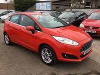 USED 2013 13 FORD FIESTA 1.2 ZETEC 5d 81 BHP EXCEPTIONALLY LOW MILEAGE,WITH SERVICE HISTORY