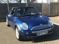 2007 MINI CONVERTIBLE 1.6 ONE 2d 89 BHP £2499.00