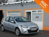 USED 2010 60 RENAULT CLIO 1.1 DYNAMIQUE TOMTOM TCE 5d 100 BHP Sat Nav with Remote control,16 inch alloys, 3 Service Stamps