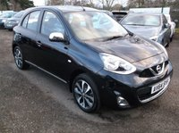 USED 2014 64 NISSAN MICRA 1.2 TEKNA 5d 79 BHP ***Economical -Low miles - LOW tax / Insurance -  FSH - SatNav - Keyless Go Keyless Entry***