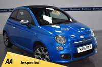 USED 2015 15 FIAT 500 1.2 C S 3d 70 BHP CONVERTIBLE (ONLY 23,000 MILES)