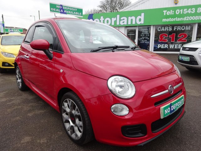 USED 2014 63 FIAT 500 0.9 S TWINAIR 3d 85 BHP £0 DEPOSIT FINANCE AVAILABLE....£0 ROAD TAX.....CALL TODAY ON 01543 877320