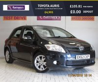 USED 2012 62 TOYOTA AURIS 1.6 VALVEMATIC COLOUR COLLECTION 5d 130 BHP