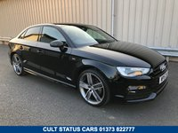 USED 2015 15 AUDI A3 1.4 TFSI S LINE 150 BHP PETROL SALOON 1 OWNER, HEATED SEATS, SAT NAV, 19 INCH ALLOYS!