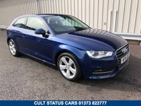USED 2015 15 AUDI A3 1.6 TDI SPORT 3 DOOR 110BHP £ZERO ROAD TAX! DAB RADIO, SPORTS SEATS, JUST 23K MILES