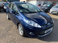 USED 2012 61 FORD FIESTA 1.2 ZETEC 5d 81 BHP VOICE COMMS / BLUETOOTH / USB / FULL MAIN DEALER SERVICE HISTORY