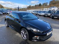 USED 2012 VOLKSWAGEN SCIROCCO 2.0 R LINE TDI DSG BLUEMOTION TECHNOLOGY 2d 140 BHP Black full heated leather, Sat Nav, 19 inch alloys with FSH