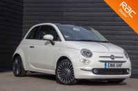 USED 2016 16 FIAT 500 1.2 LOUNGE 3d 69 BHP £0 DEPOSIT BUY NOW PAY LATER - FULL FIAT S/H - REAR PARK SENSORS