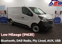 USED 2015 64 VAUXHALL VIVARO 1.6 2700 CDTI 115 BHP, Low Mileage (54563) Bluetooth, DAB Radio, Ply Lined, 3 Seats **Drive Away Today** Over The Phone Low Rate Finance Available, Just Call us on 01709 866668**