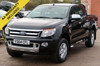 USED 2014 64 FORD RANGER 3.2 LIMITED 4X4 DCB TDCI 4d 197 BHP NO VAT TO PAY VAT INCLUDED