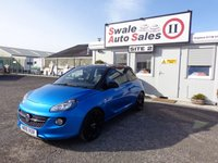 USED 2016 16 VAUXHALL ADAM 1.2 ENERGISED 3 DOOR 69 BHP £38 PER WEEK, NO DEPOSIT - SEE FINANCE LINK