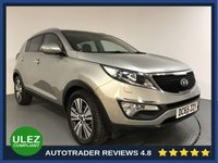 USED 2016 65 KIA SPORTAGE 1.7 CRDI 3 ISG 5d 114 BHP EURO 6 - SERVICE HISTORY - 1 OWNER - REAR CAMERA - LEATHER - PAN ROOF - REAR SENSORS - AIR CON - AUX/USB