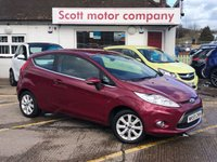 2009 FORD FIESTA 1.2 Zetec 3 door £3499.00