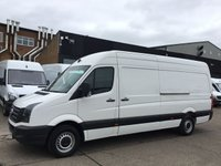 USED 2017 17 VOLKSWAGEN CRAFTER 2.0TDI CR35 LWB HIGH ROOF BLUE MOTION. EURO 6. VW WARRANTY. EURO6. VW WARRANTY 05/2020. LOW FINANCE. PX WELCOME