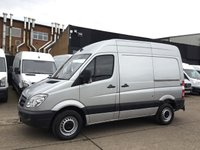USED 2012 12 MERCEDES-BENZ SPRINTER 2.1 313CDI SWB HIGH ROOF 130BHP. LOW 62K. FSH. 1 OWNER. SILVER. SWB HIGH ROOF. LOW 62,000 MILES. LOW FINANCE. PX