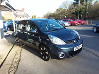 USED 2012 62 NISSAN NOTE 1.4 N-TEC PLUS 5d 88 BHP FINANCE AND PART EXCHANGE WELCOME. 3 MONTHS WARRANTY. ALL CARS HAVE A YEAR MOT AND A FRESH SERVICE.
