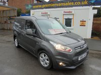2016 FORD TRANSIT CONNECT 1.6 200 LIMITED EDITION MODEL 115 BHP  METALLIC SEA GREY ALLOYS AIR CON HEATED SCREEN  1 LEASE COMPANY OWNER SUPER CONDITION FULL PRINT OUT SERVICE HISTORY   £7950.00