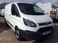 USED 2015 65 FORD TRANSIT CUSTOM SWB 2.2 270 LR 99 BHP 1 OWNER FSH NEW MOT  FREE 6 MONTH AA WARRANTY INCLUDING RECOVERY AND ASSIST NEW MOT EURO 5 SPARE KEY ELECTRIC WINDOWS BLUETOOTH 6 SPEED