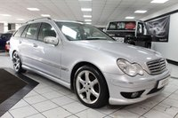 USED 2005 55 MERCEDES-BENZ C CLASS 2.1 C200 CDI SPORT EDITION AUTO     10 STAMPS! FULL BLACK LEATHER!