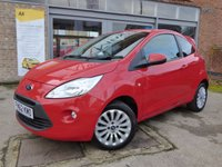 USED 2012 62 FORD KA 1.2 ZETEC 3d 69 BHP FULL SERVICE HISTORY & £20 A YEAR TO TAX VERY LOW MILEAGE