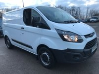 2014 FORD TRANSIT CUSTOM 290 100PS SWB L1H1 EURO 5 **AIRCON PACK** £5995.00