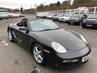 USED 2005 05 PORSCHE BOXSTER 2.7 24V 2d 240 BHP Basalt Black Met, Black leather, only 45,000 miles by 2 owners!