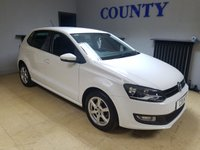 USED 2013 13 VOLKSWAGEN POLO 1.2 MATCH EDITION 5d 59 BHP * TWO OWNERS WITH HISTORY *