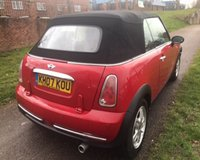 USED 2007 07 MINI CONVERTIBLE 1.6 ONE 2d 89 BHP VERY BRIGHT AND CLEAN: