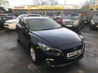 USED 2014 64 MAZDA 3 2.0 SE-L NAV 5 DOOR 118 BHP IN METALLIC BLUE WITH A HUGH SPEC AND ONLY 43000 MILES. APPROVED CARS ARE PLEASED TO OFFER THIS MAZDA 3 2.0 SE-L NAV 5 DOOR 118 BHP IN METALLIC BLUE WITH A HUGE SPEC INCLUDING SAT NAV,PARKING SENSORS,BLUETOOTH AND MUCH MORE WITH A FULL MAZDA SERVICE HISTORY ON THE KEY A GREAT LOOKING DRIVING CAR IN LOVELY CONDITION.