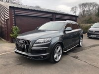 USED 2013 10 AUDI Q7 3.0 TDI QUATTRO S LINE PLUS 5d AUTO 245 BHP Finance arranged with low deposit HP and PCP plans available