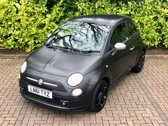 2011 FIAT 500 1.2 Limited Edition MATT BLACK 3d 69BHP px swap £4290.00
