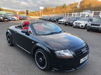 USED 2005 54 AUDI TT 3.2 ROADSTER V6 QUATTRO 2d 247 BHP Phantom Black with Red leather, heated seats & BOSE Hi-Fi. Only 48,000 miles