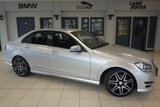 USED 2013 62 MERCEDES-BENZ C CLASS 2.1 C220 CDI BLUEEFFICIENCY AMG SPORT PLUS 4d 168 BHP FINISHED IN STUNNING IRIDIUM SILVER WITH HALF BLACK LEATHER SEATS + FULL SERVICE HISTORY + 18 INCH ALLOYS + XENON HEADLIGHTS + BLUETOOTH + HEATED FRONT SEATS + PARKING SENORS + CRUISE CONTROL + AIR CONDITIONING + DUAL CLIMATE CONTROL