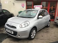 USED 2013 13 NISSAN MICRA 1.2 ACENTA 5d 79 BHP Low road tax, economical, low mileage, proven reliability, superb.