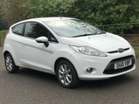 USED 2010 10 FORD FIESTA 1.2 ZETEC 3d. VERY LOW MILEAGE. NEW TYRES.