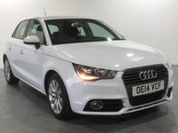 USED 2014 14 AUDI A1 2.0 SPORTBACK TDI SPORT 5d 141 BHP GLEAMING POLOR WHITE