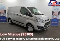 2016 FORD TRANSIT CUSTOM 2.2 290 TREND 125 BHP, Low Mileage (23143) Bluetooth, Cruise Control, Front and Rear Parking Sensors, Ply Lined £10980.00