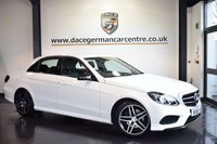 """USED 2016 65 MERCEDES-BENZ E CLASS 2.1 E220 BLUETEC AMG NIGHT EDITION 4DR AUTO 174 BHP full service history *NO ADMIN FEES* FINISHED IN STUNNING POLAR WHITE WITH FULL BLACK LEATHER INTERIOR + COMAND SATELLITE NAVIGATION + FULL SERVICE HISTORY + BLUETOOTH + HEATED SEATS + DAB RADIO + CRUISE CONTROL + ELECTRIC FOLDING MIRRORS + NIGHT PACKAGE + ACTIVE PARK ASSIST + 18"""" ALLOY WHEELS"""