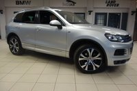 USED 2014 63 VOLKSWAGEN TOUAREG 3.0 V6 R-LINE TDI BLUEMOTION TECHNOLOGY 5d AUTO 242 BHP FINISHED IN A STUNNING SILVER WITH FULL LEATHER SEATS + EXCELLENT SERVICE HISTORY + SATELLITE NAVIGATION + PANORAMIC SUNROOF + 20 INCH ALLOYS + BI-XENON HEADLIGHTS + HEATED FRONT SEATS + FRONT/REAR PARKING SENSORS + BLUETOOTH + ELECTRIC TAILGATE + DAB RADIO + CRUISE CONTROL + LED DAY RUNNING LIGHTS + DETACHABLE TOWBAR.....